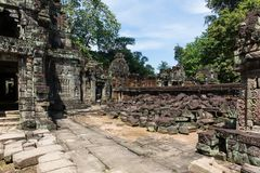 preah khan świątynia Obraz Royalty Free