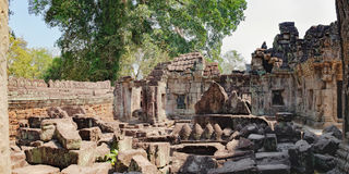 Preah Khan świątynia w Siem Przeprowadza żniwa, Kambodża Fotografia Royalty Free