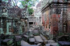Preah Khan in Angkor, Cambodia Stock Images