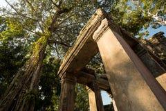 Preah Khan columns Stock Image