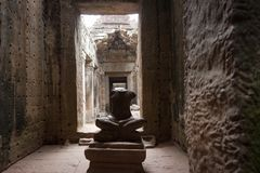 Preah Khan Halls Royalty Free Stock Images