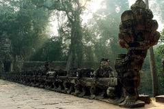 Preah Khan in Kambodja stock afbeeldingen