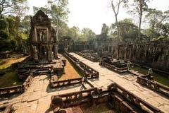 Preah Khan Panorama Royaltyfri Bild