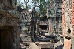 Preah Khan tempel. Arkivbild