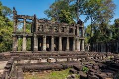 Preah Khan tempel i komplexa Angkor Wat i Siem Reap, Cambodja arkivbilder