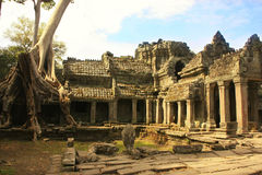 Preah Khan temple, Angkor area, Siem Reap, Cambodia Royalty Free Stock Images