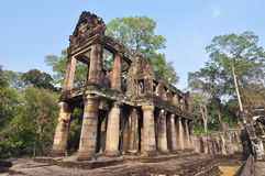 Preah Khan is a temple at Angkor Cambodia. Royalty Free Stock Photos