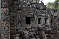 Preah Khan Temple in Angkor Stock Photo