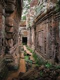 Preah Khan temple in Angkor Wat (Cambodia). Royalty Free Stock Photo