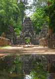 Preah Khan Temple in AngKor Wat Stock Images