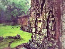 Preah khan temple. Bayon buiding in angkor thom stock image