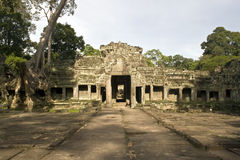 Preah Khan temple entrance, Angkor, Cambodia Royalty Free Stock Photos
