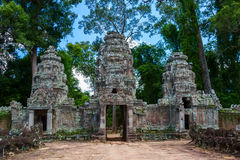 Preah Khan temple gates Stock Image