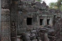 Preah Khan Temple i Angkor Arkivfoto