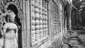 Preah Khan Temple i arkeologiska Angkor parkerar Royaltyfria Bilder