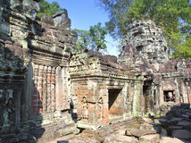 Preah Khan(it is translated as A sacred sword). Trees and ruins of the temple, Siem Reap, Cambodia.  Stock Photos