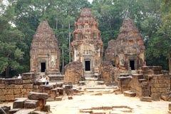 Preah Ko寺庙废墟 库存照片
