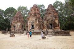 Preah Ko寺庙废墟 免版税图库摄影