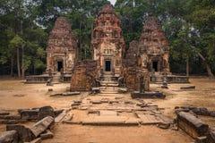 Preah Ko. Ancient temple ruins of Preah Ko, Angkor, Siem Reap Cambodia Royalty Free Stock Photography