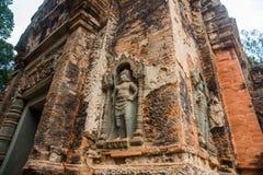 Preah Ko O complexo do templo de Angkor Imagem de Stock