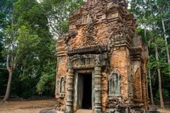 Preah Ko.The temple complex of Angkor. royalty free stock photo