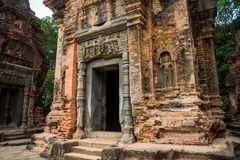 Preah Ko.The temple complex of Angkor. Royalty Free Stock Photos