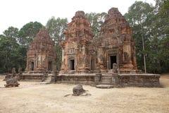 Preah Ko temple ruins Stock Photo