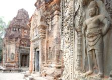 Preah Ko temple ruins Royalty Free Stock Photography