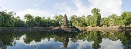 Preah Neak Pean寺庙,吴哥窟,柬埔寨 免版税库存图片