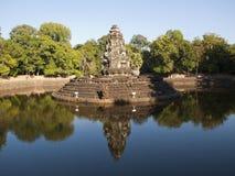Preah Neak Pean, Siem oogst royalty-vrije stock afbeeldingen