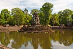 Preah Neak Pean Tempel. Angkor. Kambodscha Stockfotografie