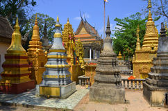 Preah Prom Rath Pagodas garden Royalty Free Stock Images