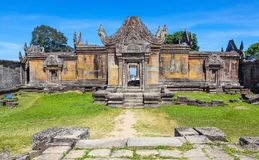 Preah Vihear在位于柏威夏省的Preah Vihear山的寺庙上面柬埔寨 库存照片