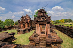 Preah Vihear寺庙人行道 免版税库存图片