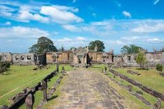 Preah Vihear,柬埔寨- 2016年12月03日:Preah Vihear寺庙 一fam 免版税库存图片