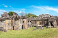 Preah Vihear,柬埔寨- 2016年12月03日:Preah Vihear寺庙 一fam 免版税库存照片