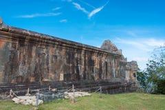Preah Vihear,柬埔寨- 2016年12月03日:Preah Vihear寺庙 一fam 图库摄影