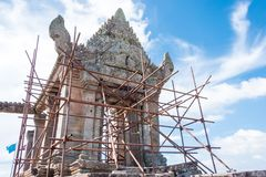 Preah Vihear,柬埔寨- 2016年12月03日:Preah Vihear寺庙 一fam 库存图片