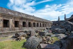 Preah Vihear,柬埔寨- 2016年12月03日:Preah Vihear寺庙 一fam 库存照片