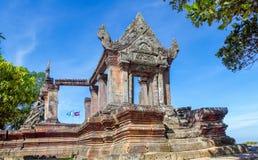 Preah Vihear świątyni wierzchołek przy preah vihear górą lokalizować w Preah Vihear prowinci Kambodża Fotografia Royalty Free