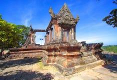 Preah Vihear świątyni wierzchołek przy preah vihear górą lokalizować w Preah Vihear prowinci Kambodża Zdjęcie Royalty Free