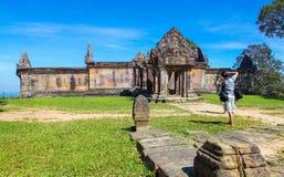 Preah Vihear świątyni wierzchołek przy preah vihear górą lokalizować w Preah Vihear prowinci Kambodża Obraz Royalty Free