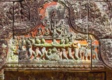 Preah Vihear świątyni wierzchołek przy preah vihear górą lokalizować w Preah Vihear prowinci Kambodża Zdjęcia Royalty Free