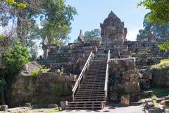 Preah Vihear, Камбоджа - 3-ье декабря 2016: Висок Preah Vihear fam стоковое фото