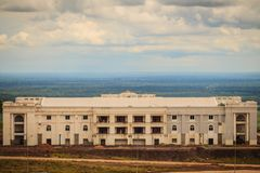 Newly casino resort hotel building at Chong Arn Ma, Thai-Cambodia border crossing (called the An Ses in Cambodia) opposite to Ubon. Preah Vihear, Cambodia stock images