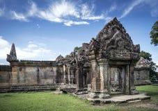 Preah Vihear fördärvar den berömda forntida templet gränsmärket i Kambodja Royaltyfria Foton