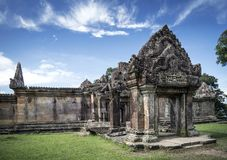 Preah vihear famous ancient temple ruins landmark in cambodia. Preah vihear famous ancient temple ruins landmark in north cambodia Royalty Free Stock Photos
