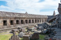Preah Vihear Kambodża, Dec, - 03 2016: Preah Vihear świątynia fama Obrazy Stock