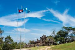 Preah Vihear Kambodża, Dec, - 03 2016: Wejście Preah Vihear T Obraz Royalty Free