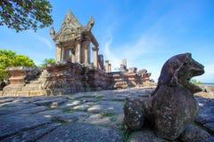 PREAH VIHEAR TEMPEL ett världsarv av det Cambodja kungariket av under Arkivbild